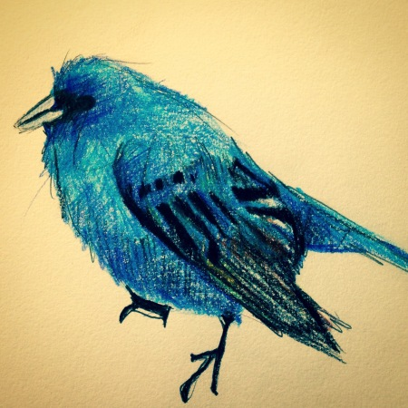 I need a place to draw more birds. Drawing by Tiffany Handshoe Bachman